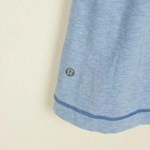 lululemon athletica Shirts - Lululemon Basic V Neck Short Sleeve Blue Shirt M